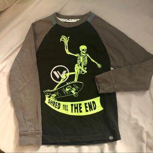 Boys Shaun White Skeleton Skateboard Tee S (6-7)